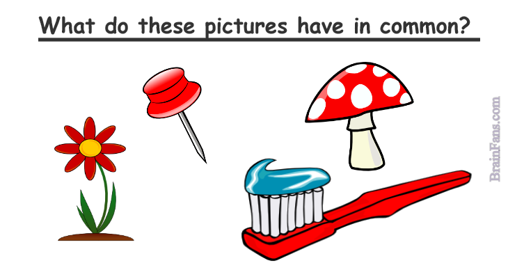 Brain teaser - Picture Logic Puzzle - what do the pictures have in common? - find one word