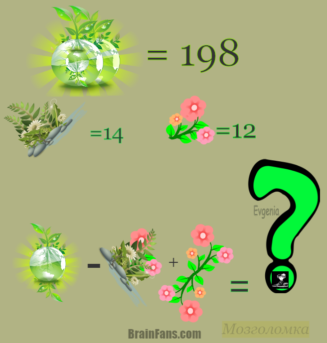 Brain teaser - Number And Math Puzzle - Mozgolomka -
