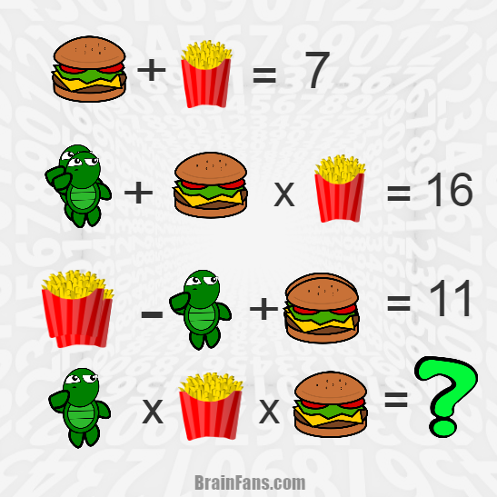 Brain teaser - Number And Math Puzzle - Betty-Dario-proba1 - Hot-dog ,frog and pomfrit