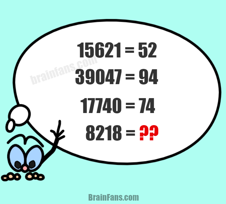 Brain teaser - Number And Math Puzzle - easy number sequence puzzle - Look at the number sequence puzzle and try to solve it. It should not take you more than a few minutes. Is it easy for you? What do you think?