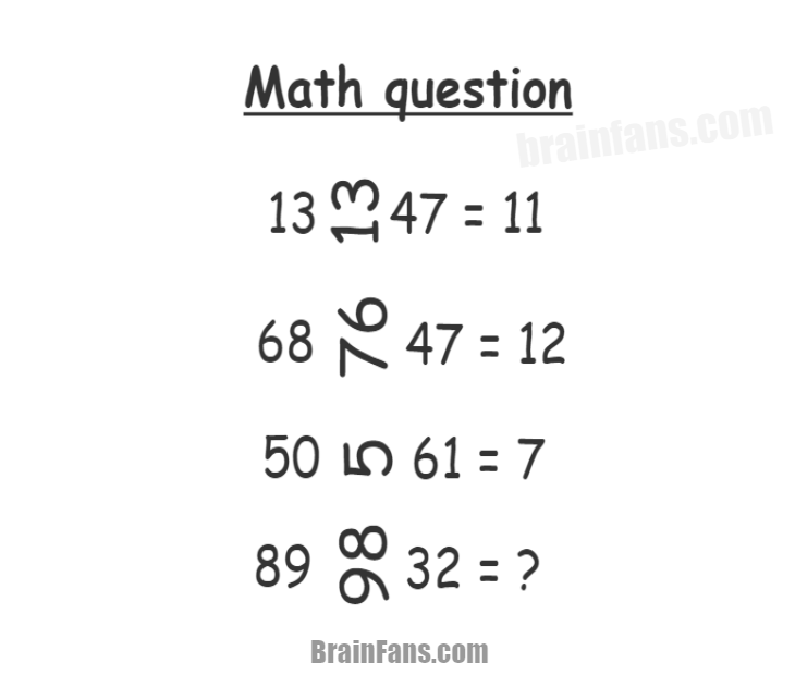 Brain teaser - Number And Math Puzzle - Math question - Can you solve the math question image? What is the purpose of rotated numbers and how are the results affected? See the answer below.