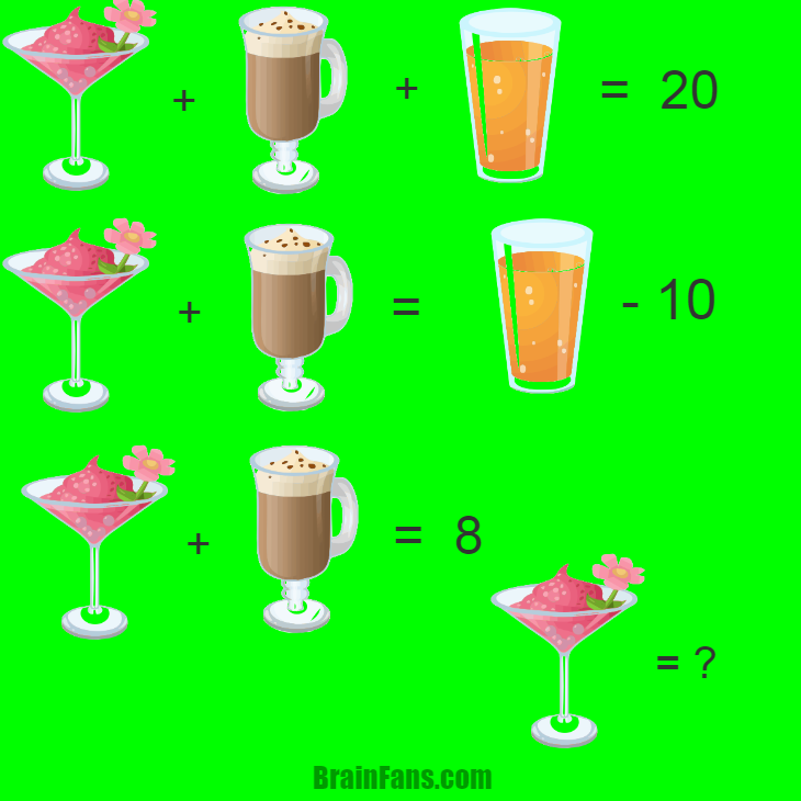 Brain teaser - Kids Riddles Logic Puzzle - drinks - easy !