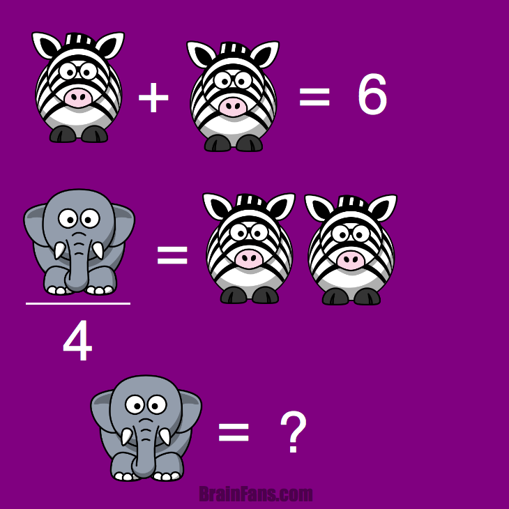 Brain teaser - Kids Riddles Logic Puzzle - Equation 2 variables and fractions -