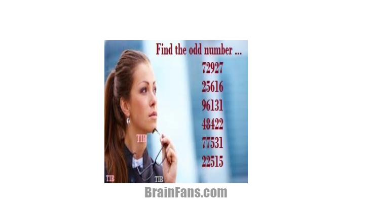 Brain teaser - Kids Riddles Logic Puzzle - Find the Odd Number ... - Find the Odd Number!
