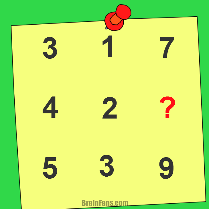 Brain teaser - Kids Riddles Logic Puzzle - kids riddle - Find the number for ?