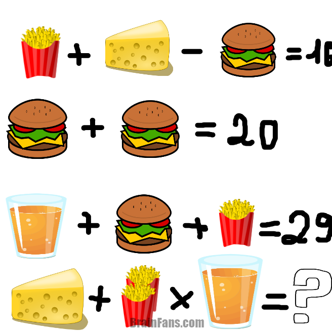 Brain teaser - Logic Riddle - Fust Food - ffsrteygtrzecr