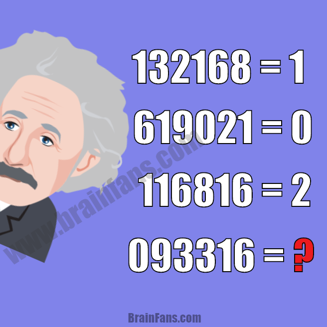 Brain teaser - Number And Math Puzzle - Best logic puzzle - This is the best logic puzzle for you to be solved. Look at athe number sequences and find the pattern. If you like it, also have a look at the logic puzzles at BrainFans.com.