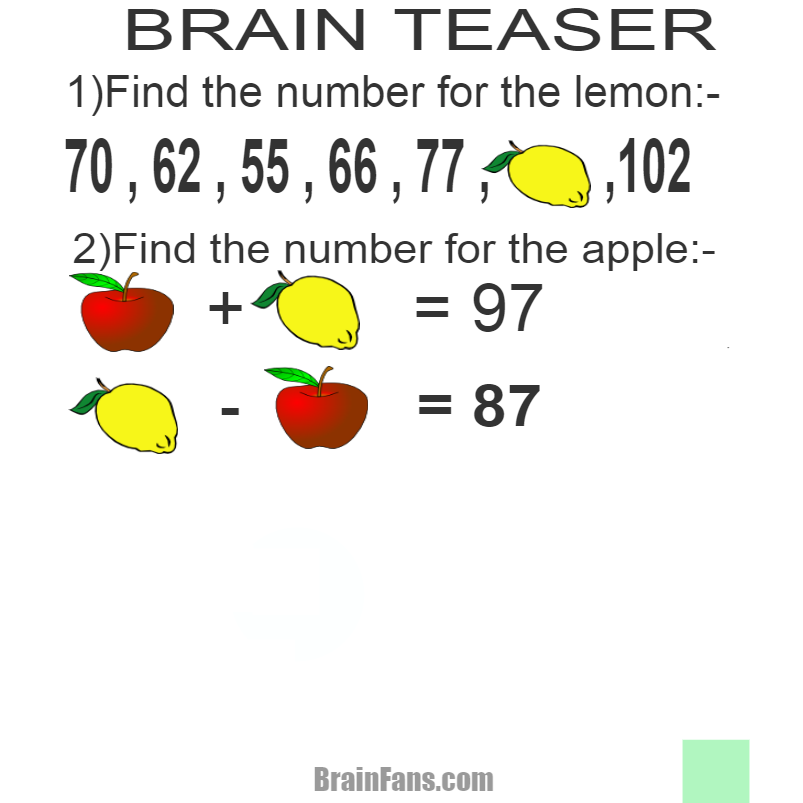Brain teaser - Number And Math Puzzle - brain teasers - gf