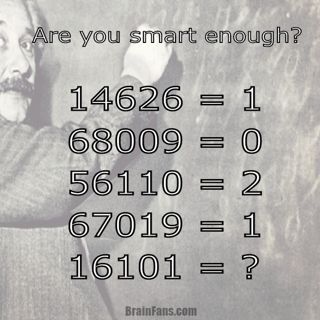 Brain teaser - Number And Math Puzzle - Easy number puzzle - Are you a smart person? Einstein? Take a look at the numbers and show your skills. What is the number behind the question mark? Easy number puzzle is prepared for you.