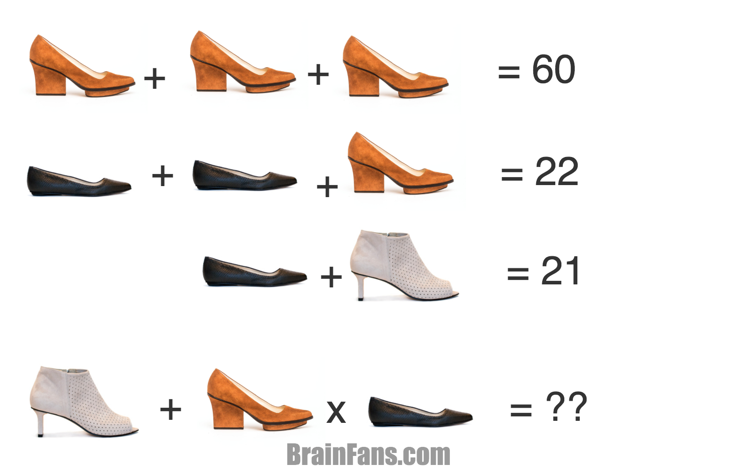 Brain teaser - Number And Math Puzzle - EIJK Shoes -