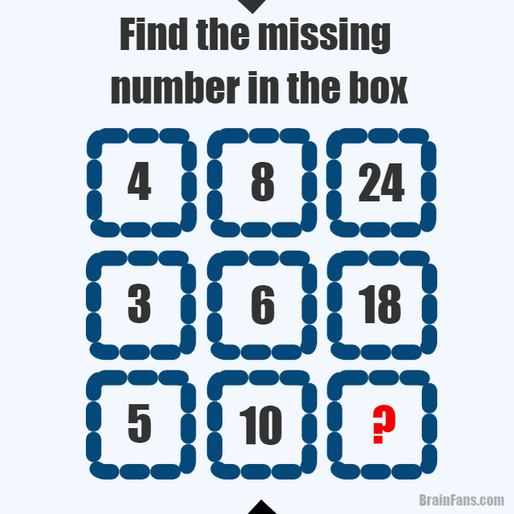 Brain teaser - Number And Math Puzzle - find the missing number in the box - Find the missing number in the box. Read the picture