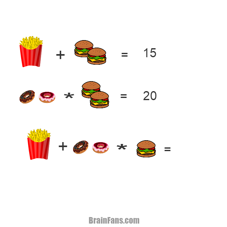 Brain teaser - Number And Math Puzzle - Food Puzzle  - anyone can play it