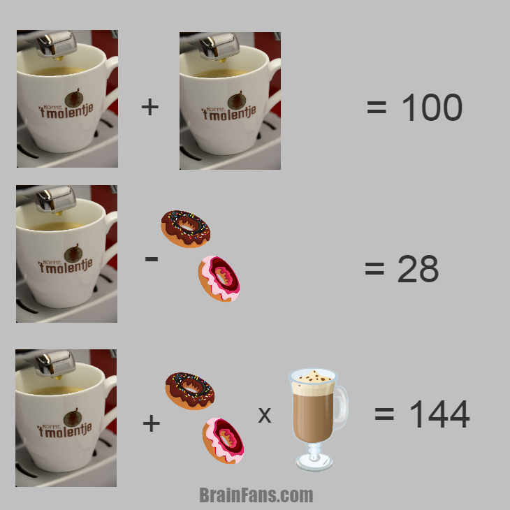 Brain teaser - Number And Math Puzzle - Koffie 't Molentje -