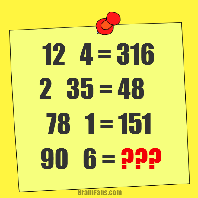 Brain teaser - Number And Math Puzzle - Math - What's the result of the puzzle?