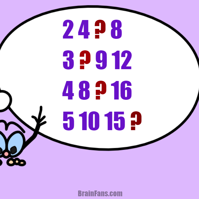 Brain teaser - Number And Math Puzzle - Math sequence puzzle (easy) - Solve this math puzzle. Not only geniuses can solve this one. Answer can be found in a minute. Please share your answer to this math sequence puzzle