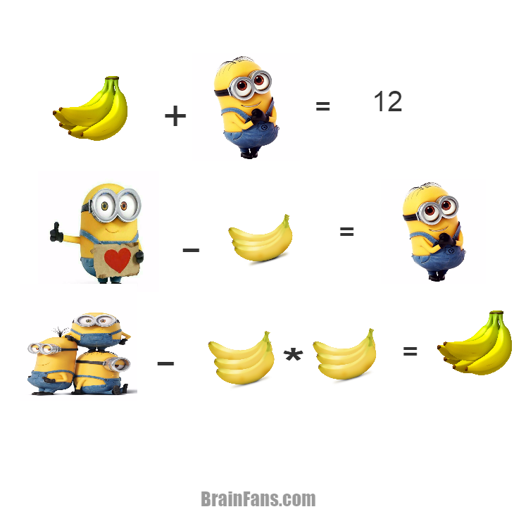 Brain teaser - Number And Math Puzzle - Minions Puzzle -