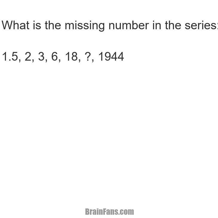 Brain teaser - Number And Math Puzzle - Missing number - Find the missing Number