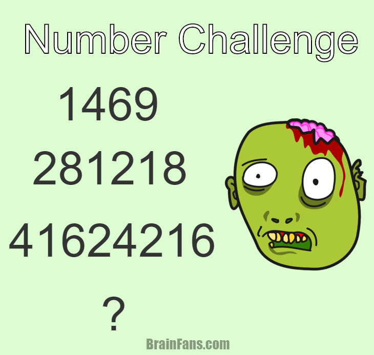 Brain teaser - Number And Math Puzzle - number challenge - Complete the number sequence. Do you know the last number? Did you spot the sequence? Please like if you answered correctly:)