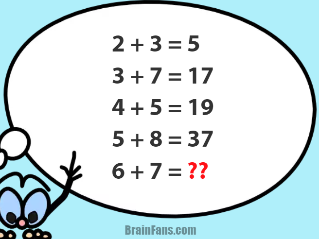 Number Puzzle With Answer Number And Math Puzzle Brainfans