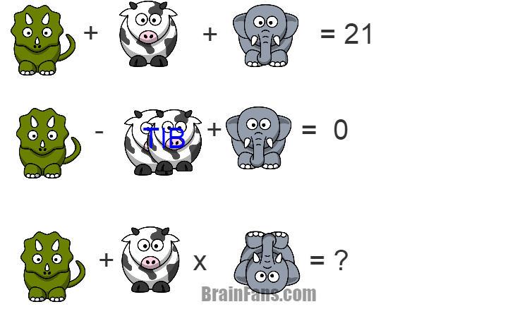 Brain teaser - Number And Math Puzzle - TIB1 -