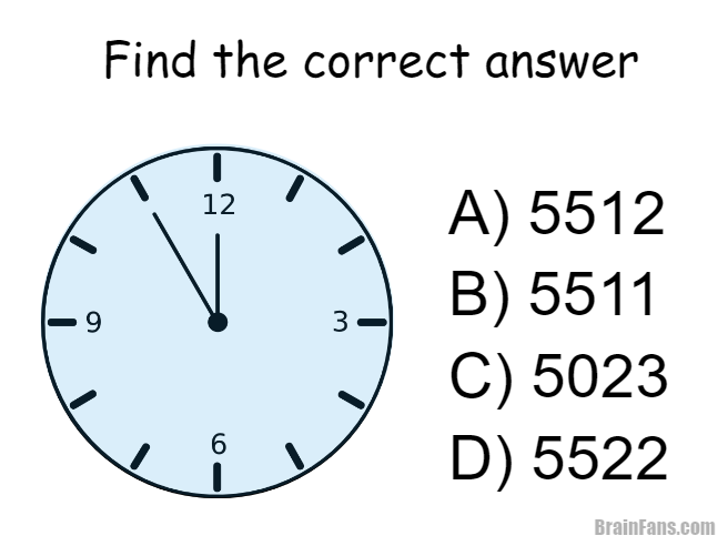 Brain teaser - Picture Logic Puzzle - Clock - Which of the answers A ...