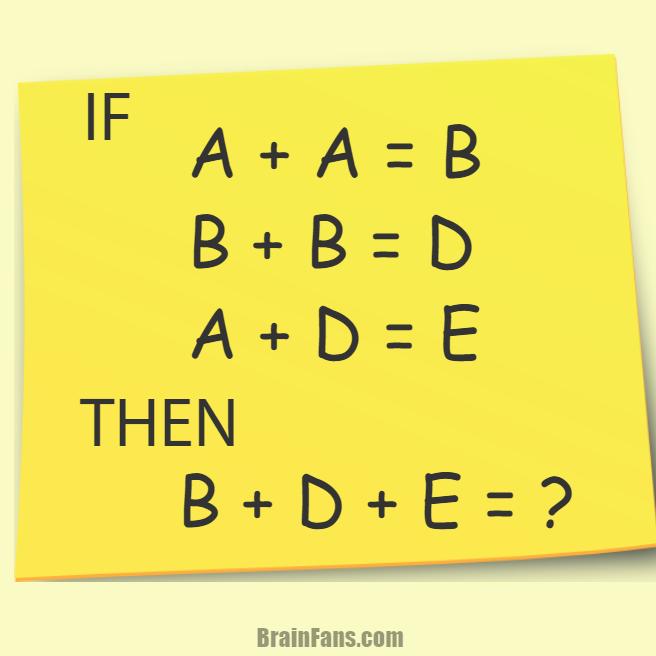 Equation puzzle | Picture Logic Puzzle - BrainFans