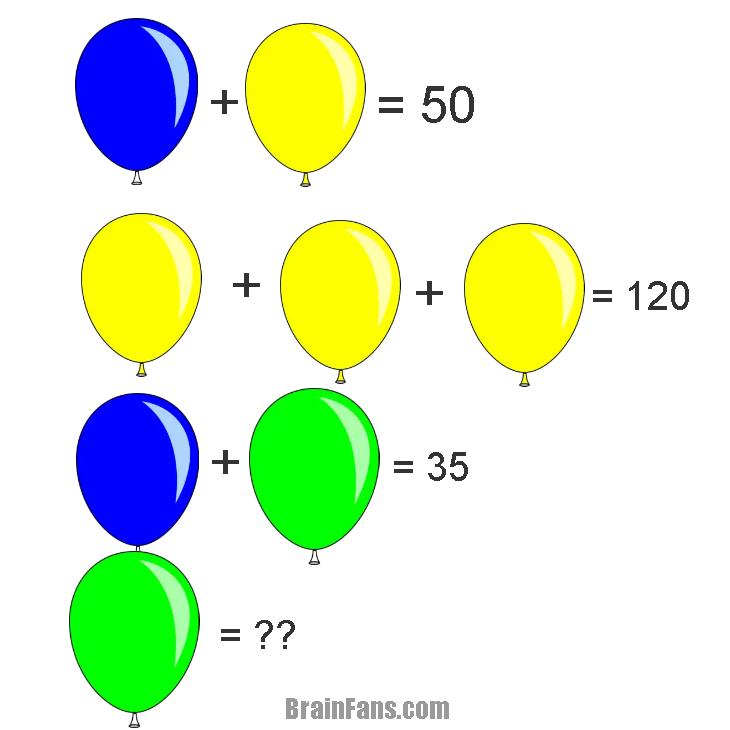 Math Riddle | Picture Logic Puzzle - BrainFans
