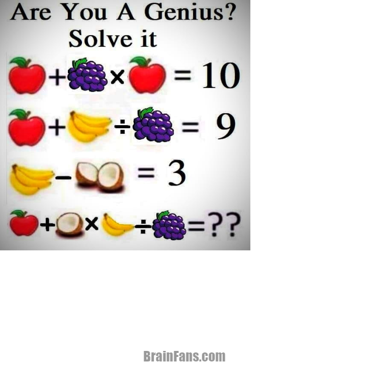 Brain teaser - Picture Logic Puzzle - Only Genius can solve it - Nil