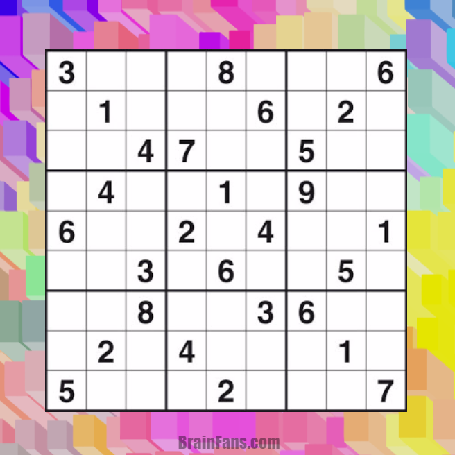 Brain teaser - Sudoku Puzzle - Free sudoku - Solve this sudoku puzzle.