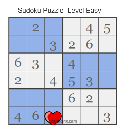 Brain teaser - Sudoku Puzzle - Sudoku Puzzle- Level Easy - Can you figure this out Please comment bellow your answers
